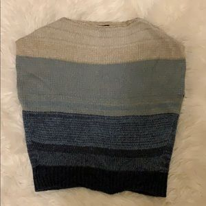 Sweaters - Ann taylor factory blue strip sweater